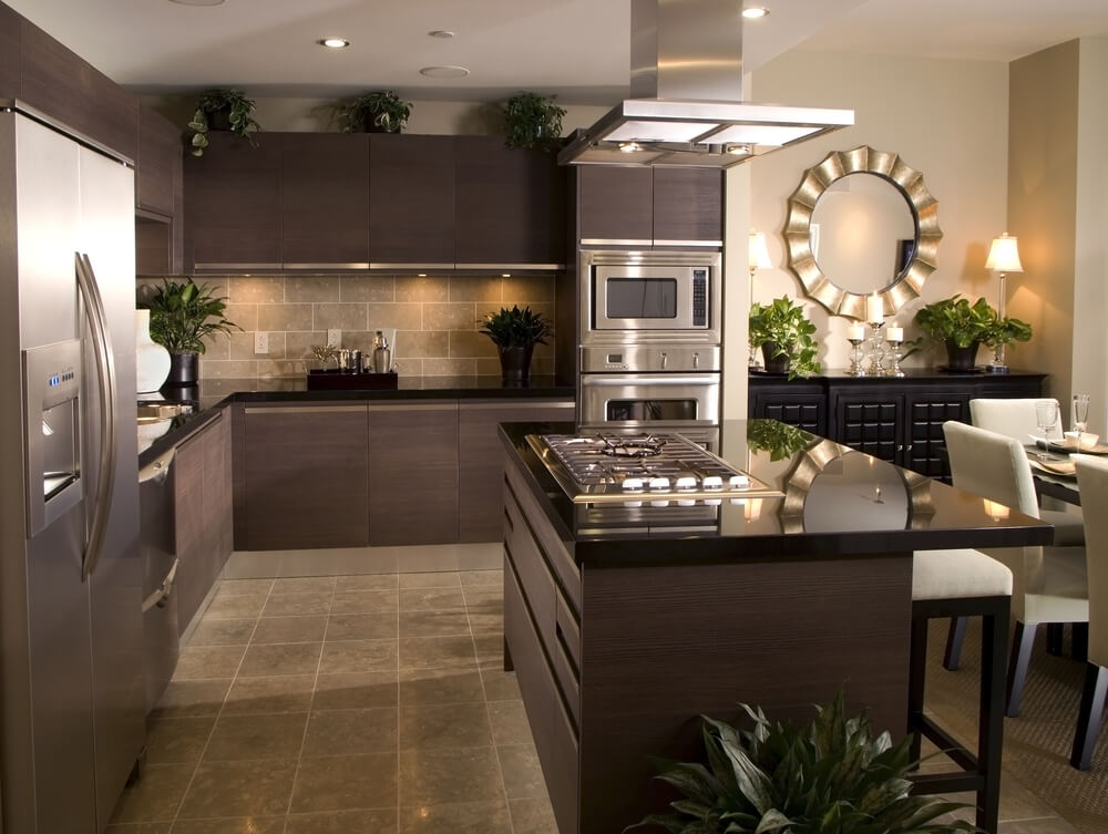 Adding plants among your neutral tones can make your kitchen feel natural and fresh.
