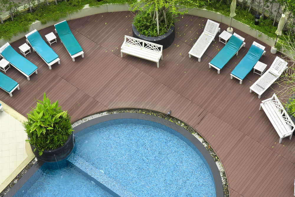 A rounded deck is great because it lets you relax and see all of the pool at the same time. There's no where for the little ones to hide and not be seen and you get a great view no matter where you're sitting.