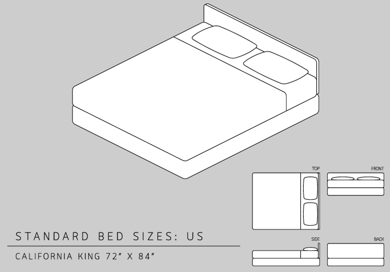 California king size bed measurements