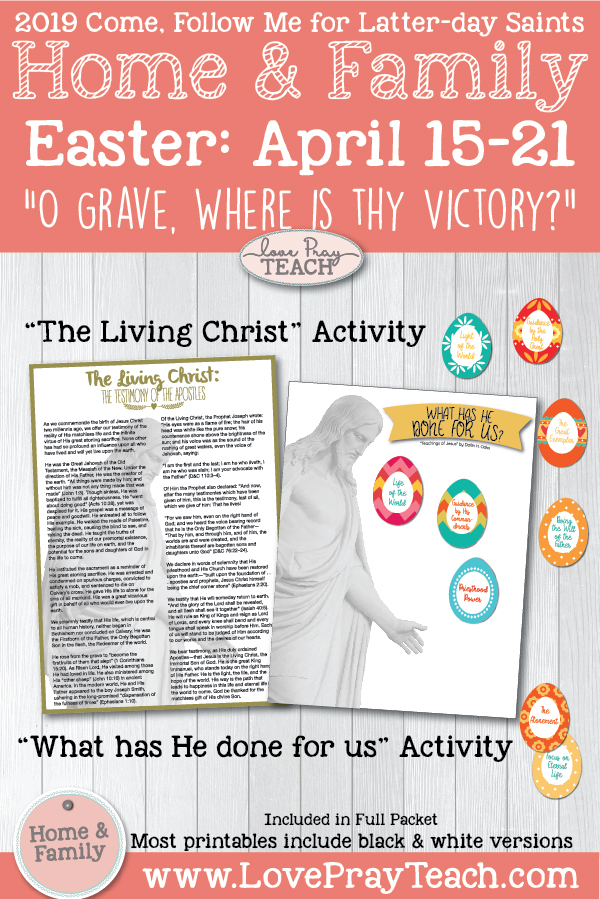 image regarding The Living Christ Printable named Arrive, Stick to Me for Those people and Households--Clean Testomony 2019: April 1521 Easter \u201cO Grave, Where by Is Thy Victory?\u201d Printable Lesson Packet for