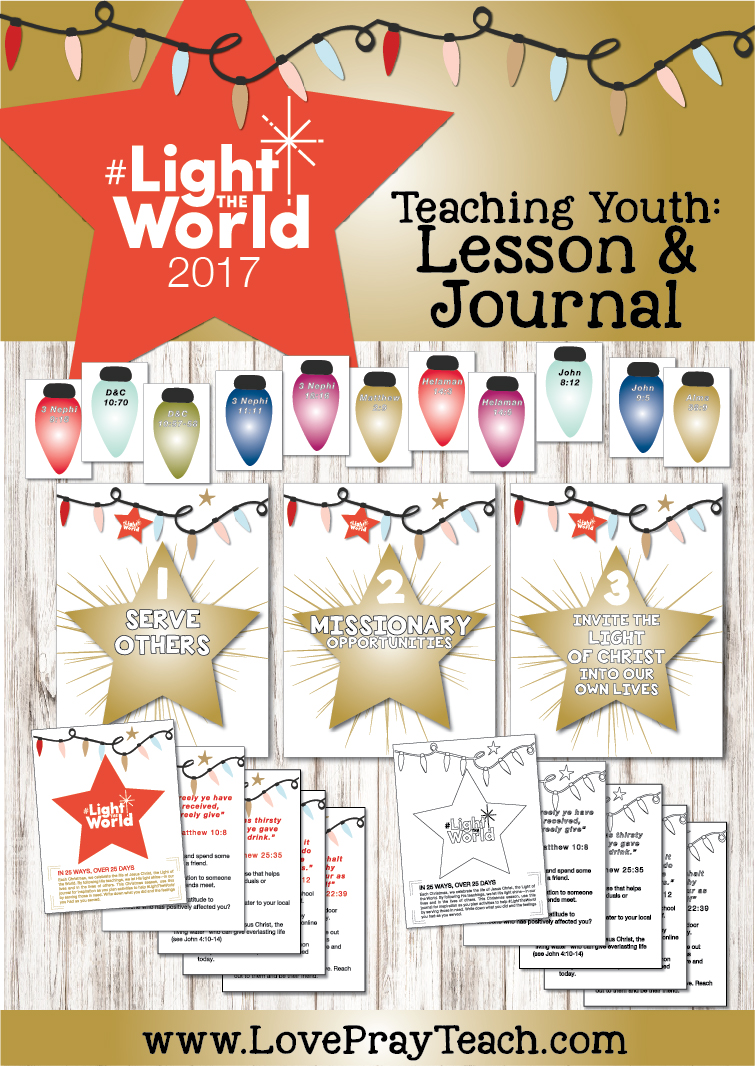#LightTheWorld 2017 Free Youth Lesson and journal for Young Women and Young Men