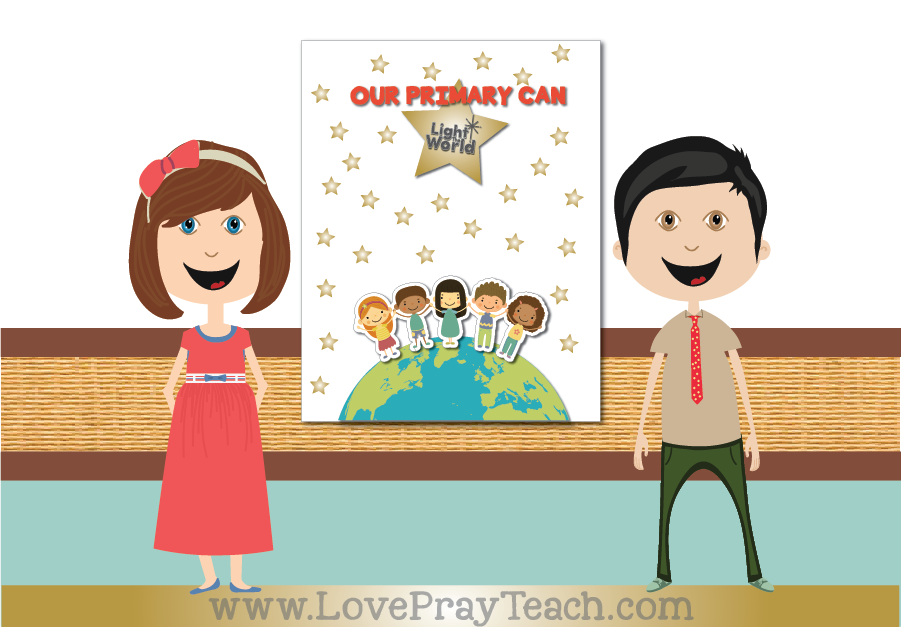 #LightTheWorld 2018 Primary Sharing Time Free and Children's Weekly Activity Calendar Printable Packet for Latter-day Saints www.LovePrayTeach.com
