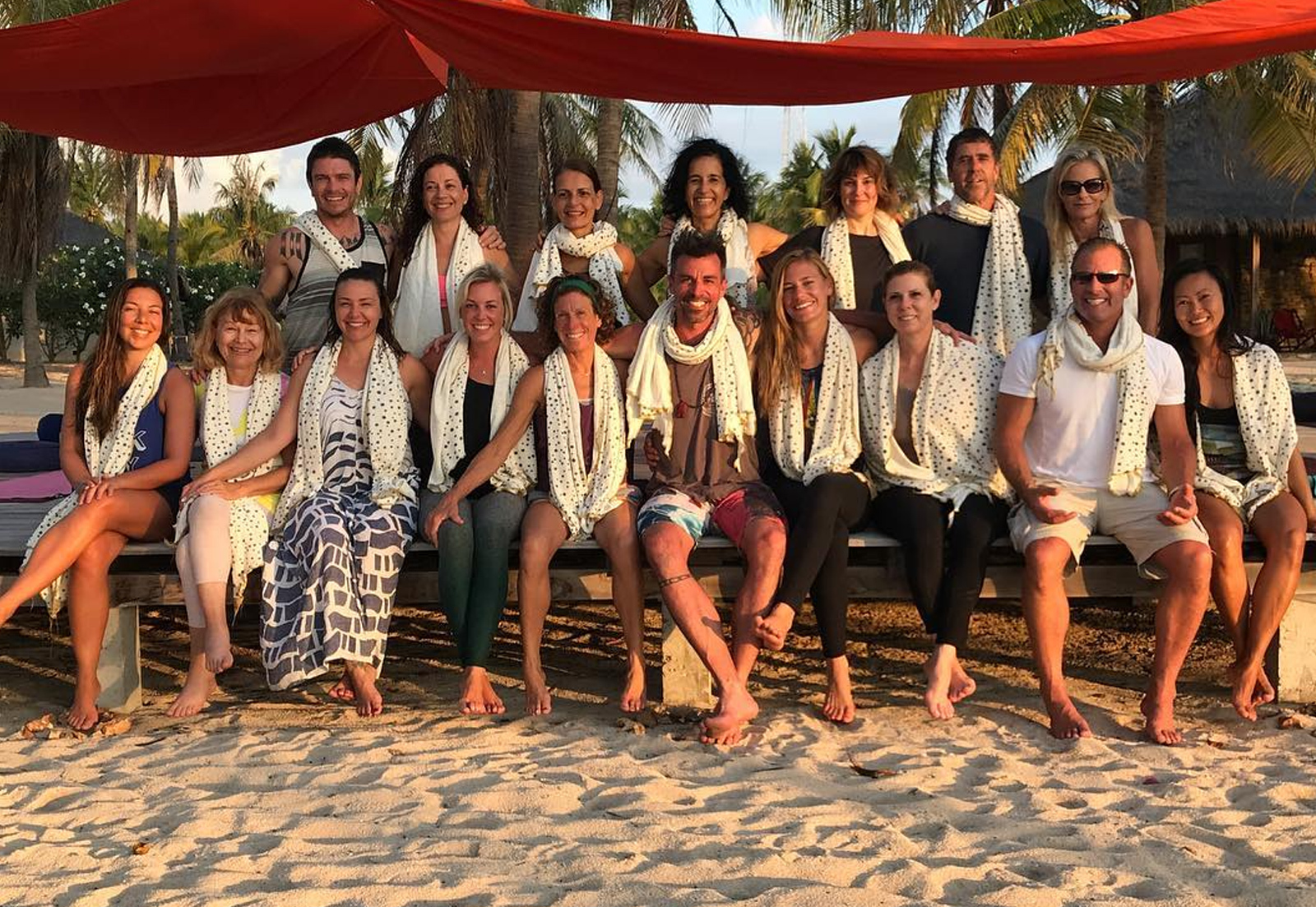<p>We made custom scarves for all the participants at Sean Gray's yoga retreat in Indonesia.</p>