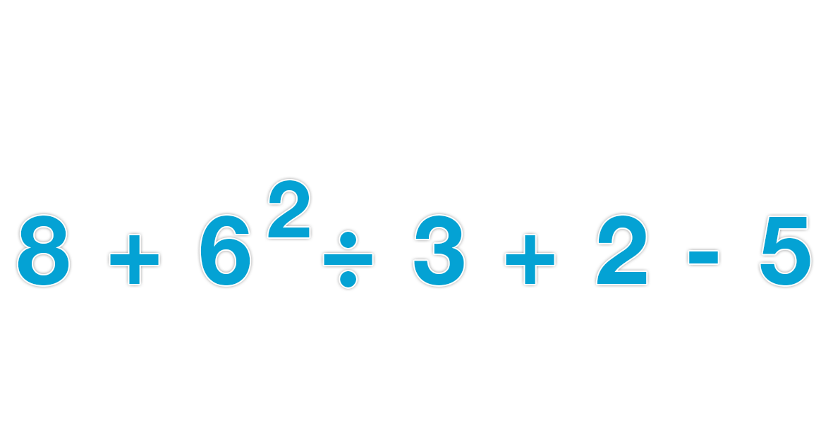 Grade 6 Math : Expression with 4 Operations and Exponents (6.EE.1 ...