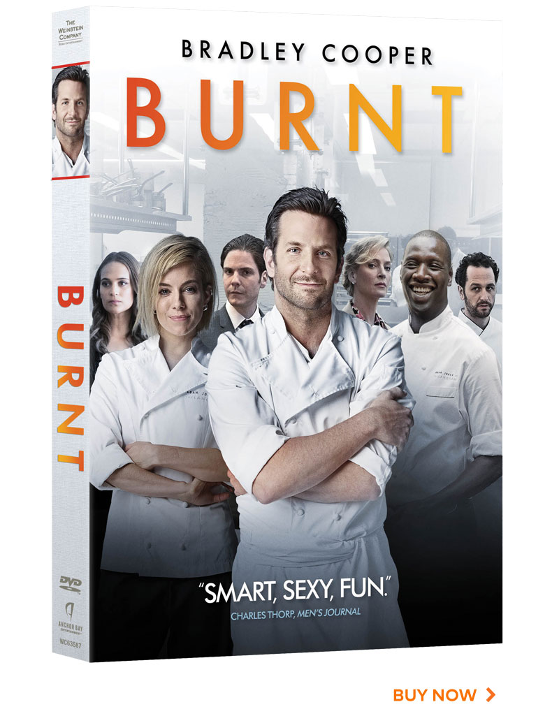 Burnt DVD cover