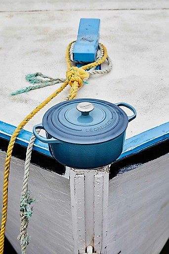 Dockside with a Marine dutch oven