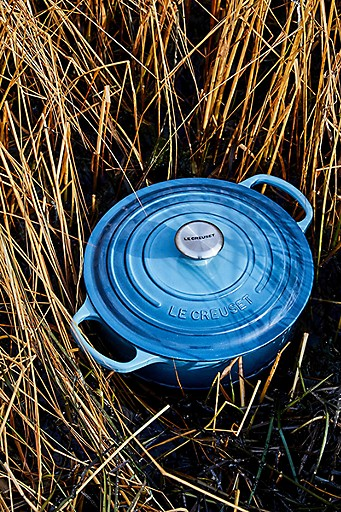 A Marine dutch oven among the reeds