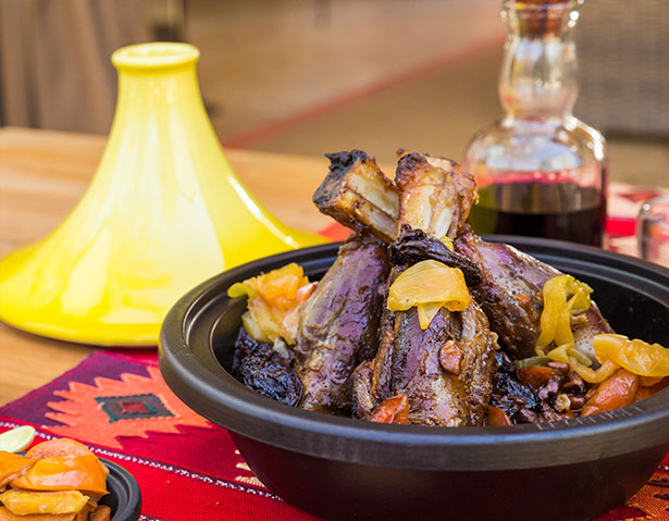 Middle Eastern meat shank dish