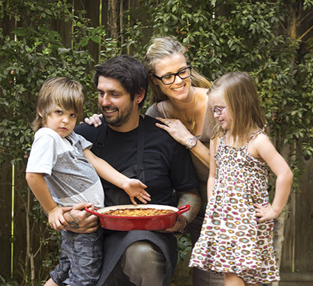 Chef Ludo and his family
