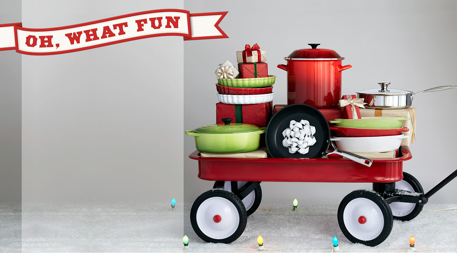 Oh, what fun! Le Creuset invites you to have a blast with the colorful