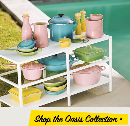 Hibiscus set on pool-side table - Shop Oasis collection