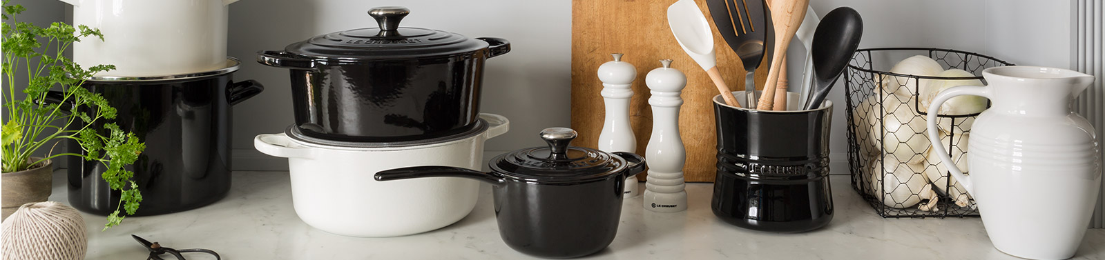 Le Creuset Black and White Collection