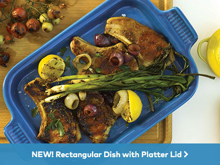 New! Rectangle Dish with Platter Lid
