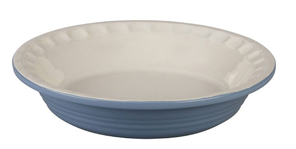 Image of blue pie dish