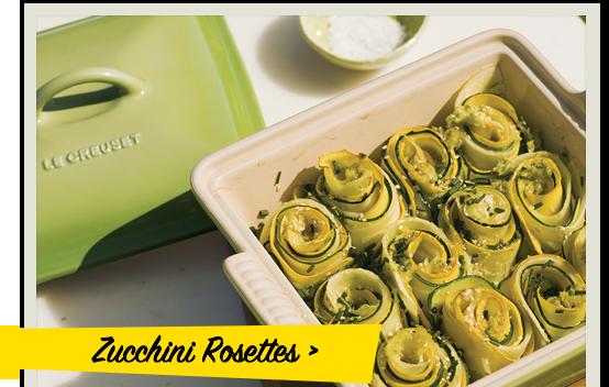 Zucchini Rosettes recipe