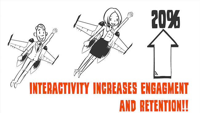 Interactive presentations increase retention