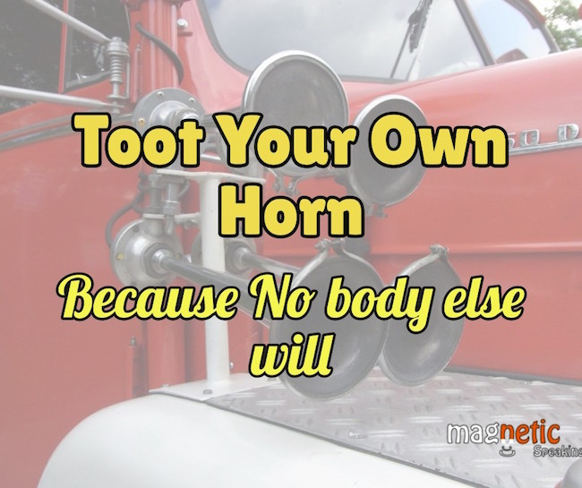 Toot your own horn in a job interview