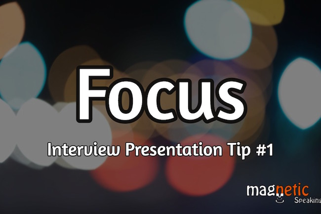 how to sell yourself in an interview presentation