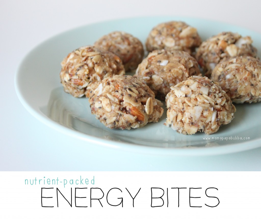 Nutrient-Packed Energy Bites | Mama.Papa.Bubba.