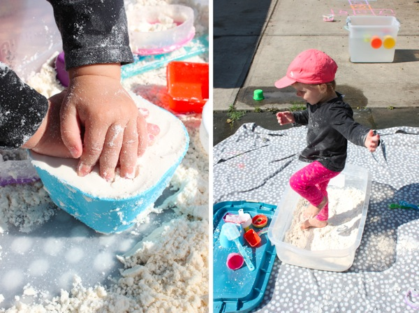 Cloud dough sensory box