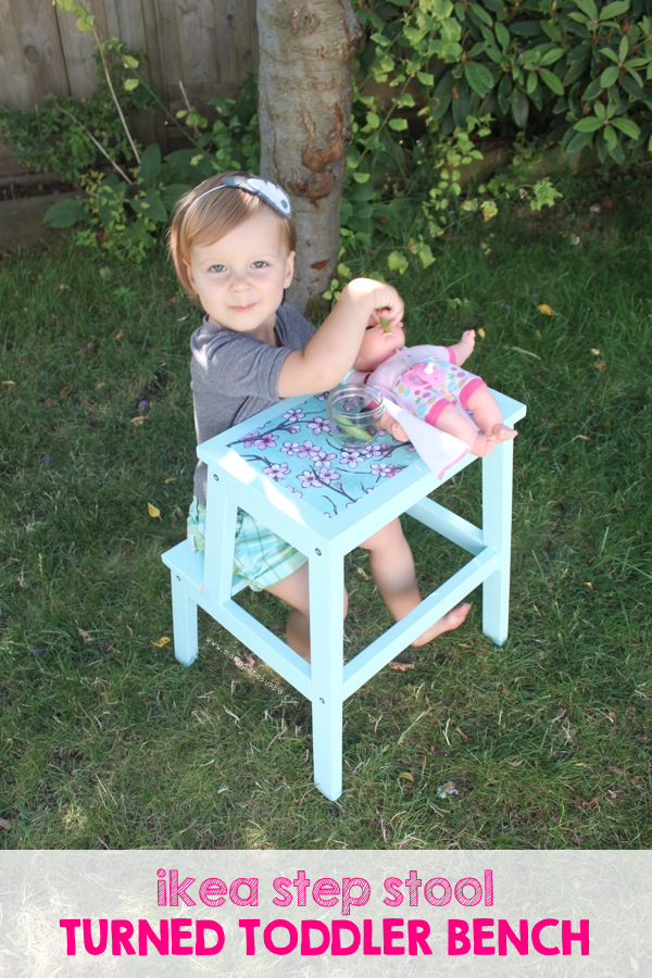 Ikea Step Stool Turned Toddler Bench | Mama.Papa.Bubba.
