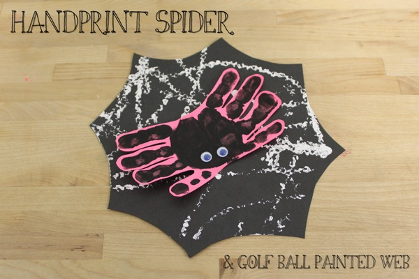 Handprint Spider  Golf Ball Painted Web