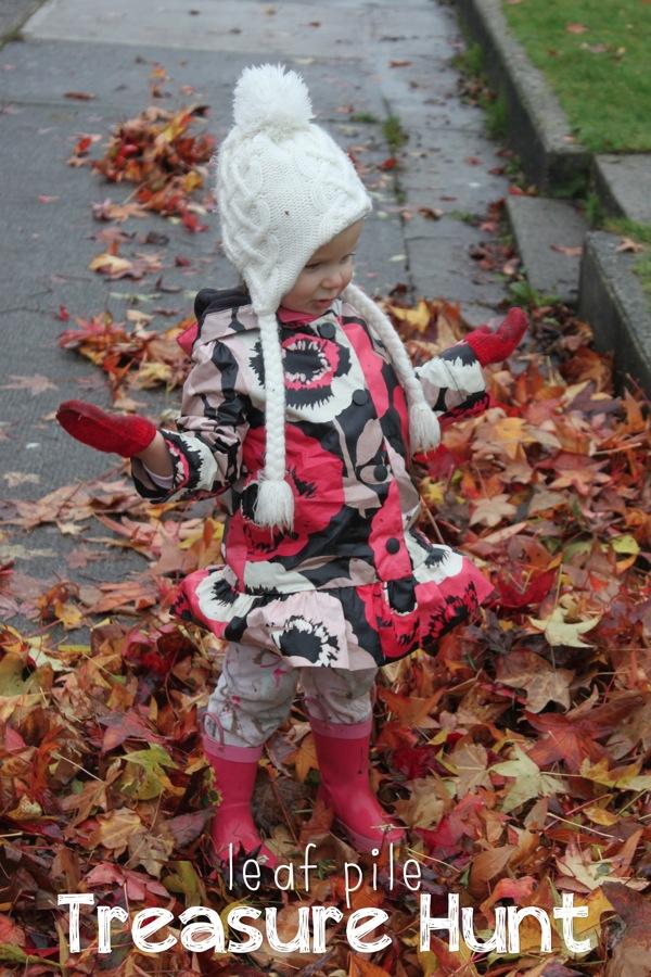 Leaf Pile Treasure Hunt