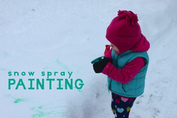 Snow Spray Painting