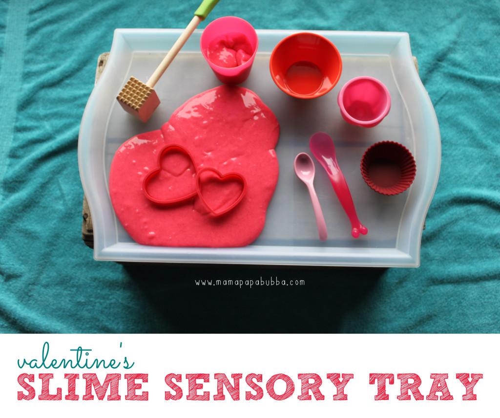 Valentine's Slime Sensory Tray | Mama.Papa.Bubba.