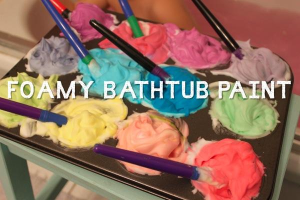 Foamy Bathtub Paint