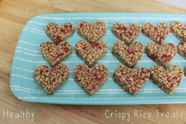Healthy Strawberry Crispy Rice Treats