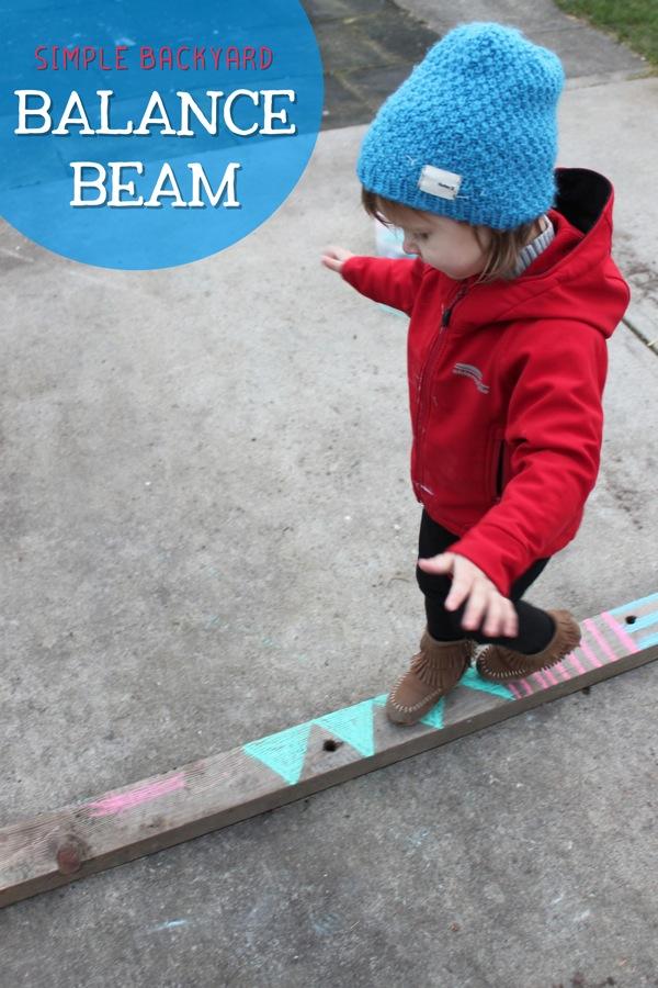 Simple Backyard Balance Beam