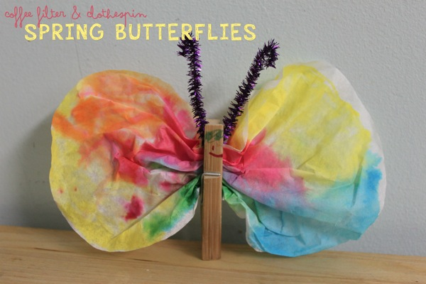 Coffee Filter  Clothespin Butterflies