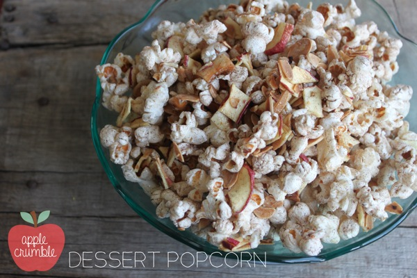 Apple Crumble Dessert Popcorn | Mama Papa Bubba