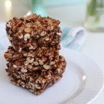 Healthier Chocolate Puff Squares