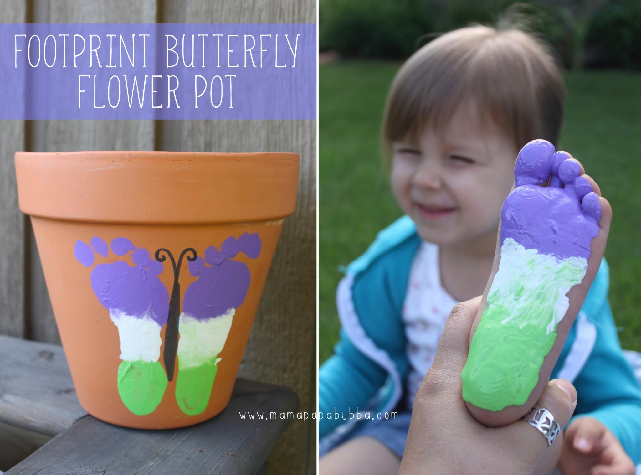 Footprint Butterfly Flower Pot | Mama.Papa.Bubba. Blog