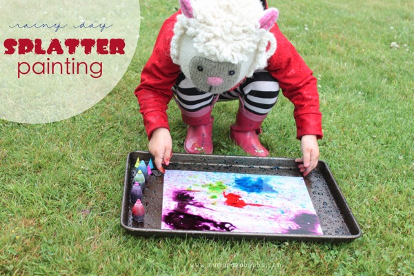 Rainy Day Splatter Painting | Mama Papa Bubba