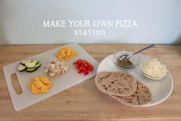Making Your Own Pizza Lunch Station | Mama Papa Bubba