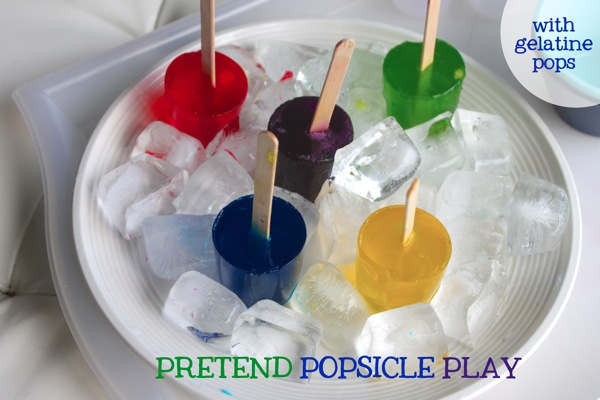 Pretend Popsicle Play With Gelatine Pops | Mama Papa Bubba