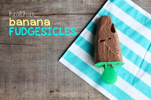 Healthier Banana Fudgesicles | Mama Papa Bubba