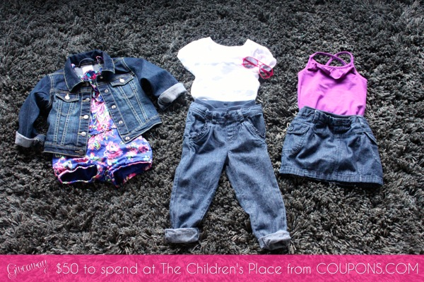 GIVEAWAY 50 Dollars to spend at The Children s Place from COUPONS COM | Mama Papa Bubba