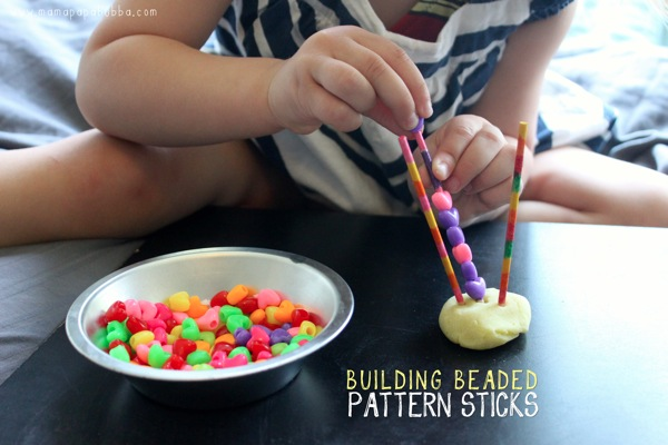 Building Beaded Pattern Sticks | Mama Papa Bubba