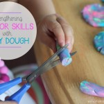Strengthening Scissor Skills with Play Dough