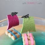 Cork Sail Boats {With Sparkly Sails}