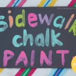 Sidewalk Chalk Paint on Paper