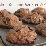 Healthy Chocolate Coconut Banana Muffins