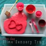Valentine's Slime Sensory Tray