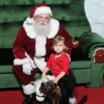 Gracen Visits Santa {2012}