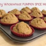 Healthy Wholewheat Pumpkin Spice Muffins