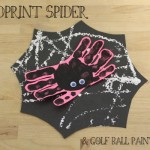 Handprint Spiders & Golf Ball Painted Webs